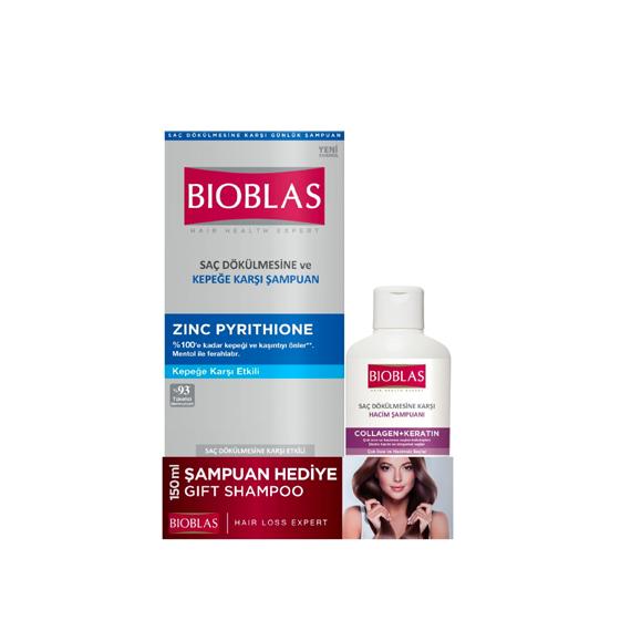 Bioblas Şampuan Zinc Pyrithione Kepeğe Karşı 360 ml + 150 ml Hediyeli