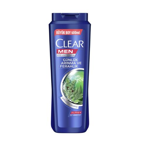 Clear Men Şampuan 600Ml*16(Günlük Arın.Ve Ferah)