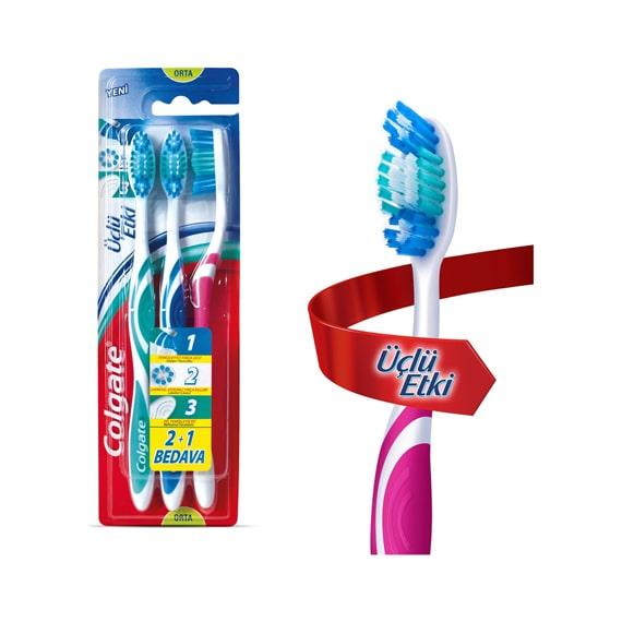 Colgate Diş Fırçası Üçlü Etki (2+1)
