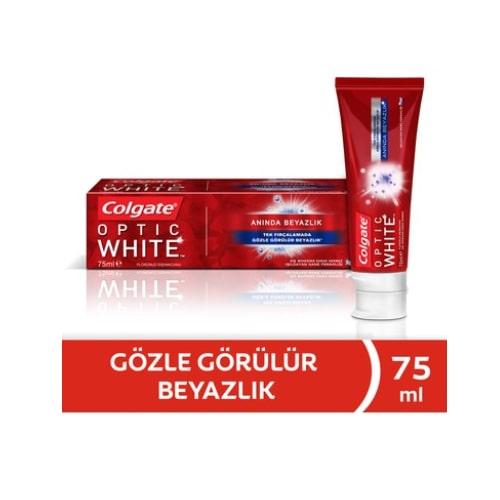 Colgate Diş Macunu Optik Beyaz Kalıcı Beyazlık 75 ml