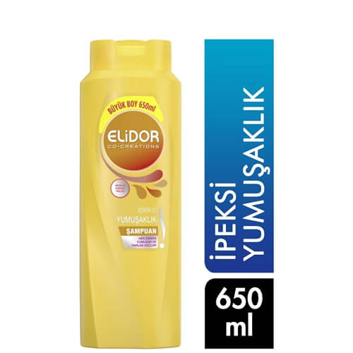 Elidor Şampuan 650Ml(İpeksi Yumuşaklık)*16