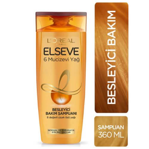Elseve 360Ml Şampuan6 (6 Besleyici Yağ)