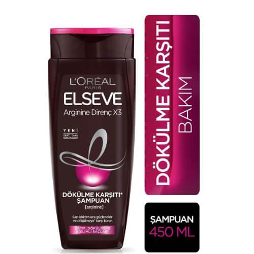 Elseve 450Ml Şampuan .*6 (Argınıne Dirençx3-Dök.Karşıtı.)