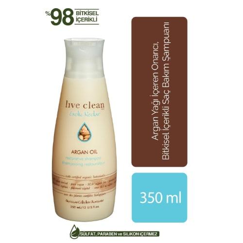Live Clean Argan Oil 350 ML Shampoo