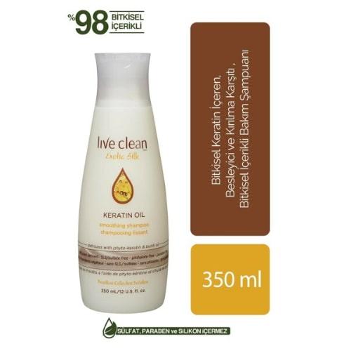 Live Clean Keratin Oil 350 ML Contıoner