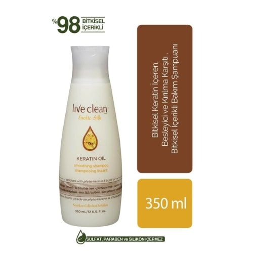 Live Clean Keratin Oil 350 ML Shampoo