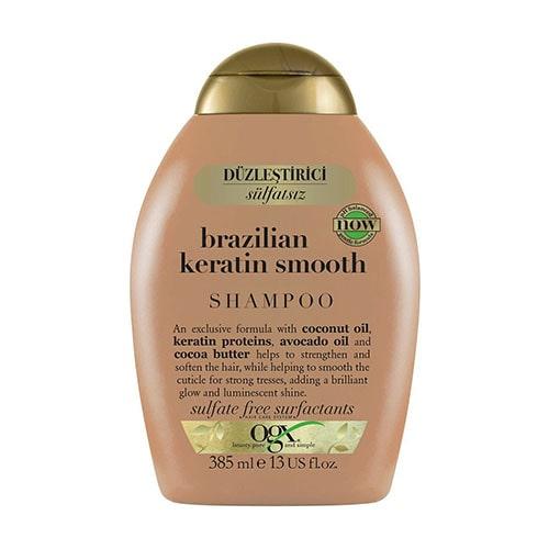 OGX Düzleştirici Brazilian Keratin Smooth Sülfatsız Şampuan 385 ml