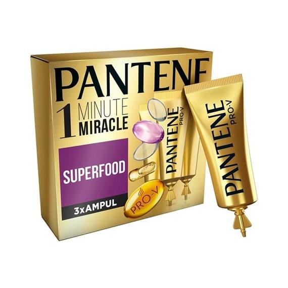 Pantene Ampul 1 Dakikada Mucize Superfood 3 x 15 ml