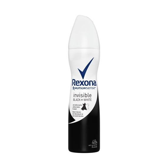 Rexona Women Invisible Black White Deodorant Sprey 150 ml