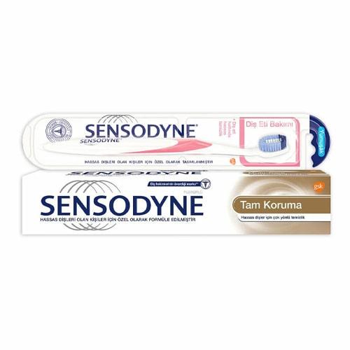 Sensodyne Tam Koruma 75 ml + Yumuşak Diş Fırçası Fiyatı
